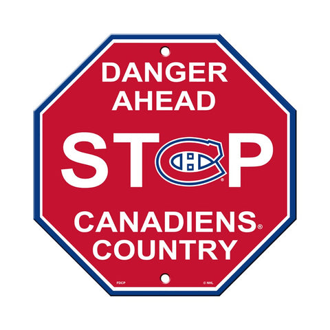 Montreal Canadiens Stop Sign