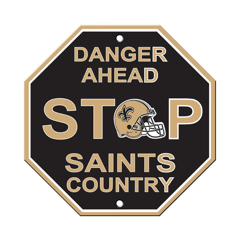 New Orleans Saints Stop Sign
