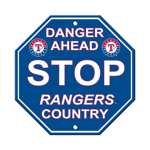 Texas Rangers Stop Sign