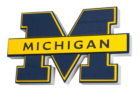 Michigan Wolverines 3D Foam Logo