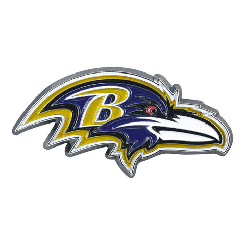 Baltimore Ravens Metal Auto Emblem - Color