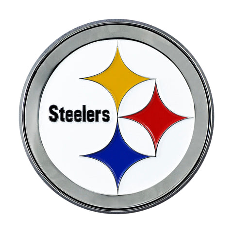Pittsburgh Steelers Metal Auto Emblem - Color