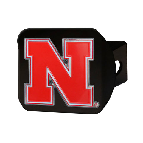 Nebraska Cornhuskers Metal Hitch Cover - Black