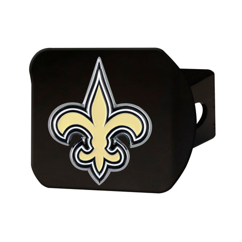 New Orleans Saints Metal Hitch Cover - Black