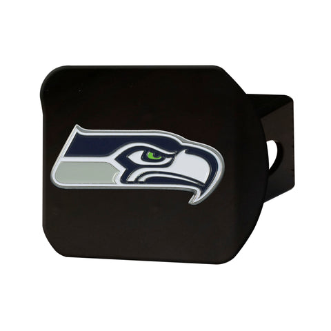 Seattle Seahawks Metal Hitch Cover - Black