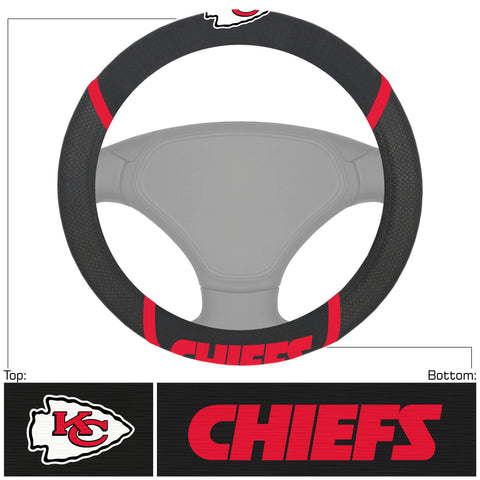 Kansas City Chiefs Deluxe Steering Wheel Cover