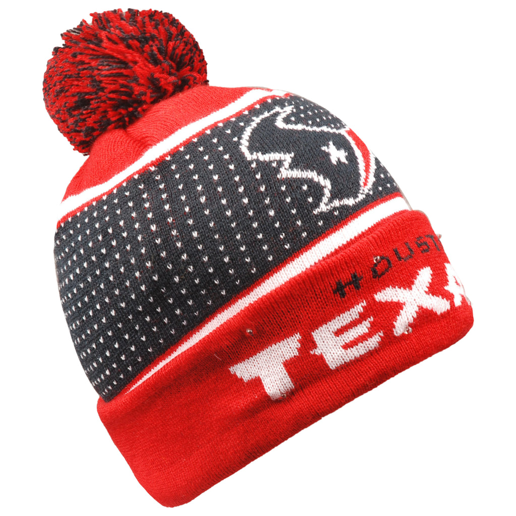 Houston Texans Big Logo Full Knit Light Up Beanie
