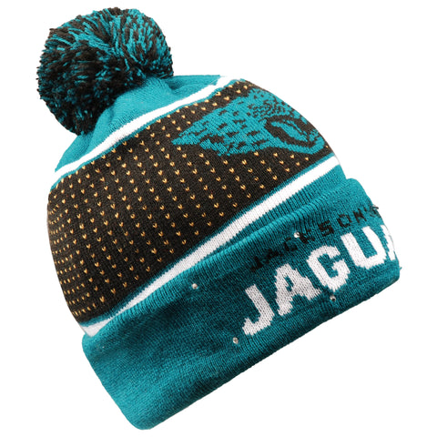 Jacksonville Jaguars Big Logo Full Knit Light Up Beanie