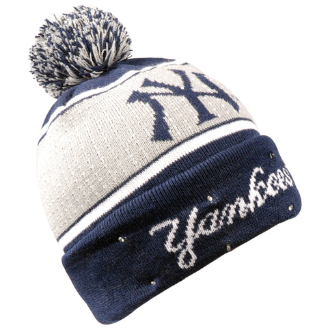 New York Yankees Big Logo Full Knit Light Up Beanie