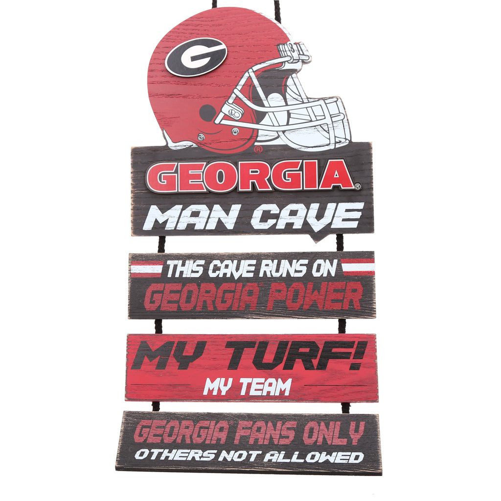 Georgia Bulldogs Helmet Man Cave Dangle Sign