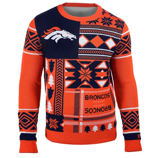 Denver Broncos 1Dz Patches Ugly Sweater