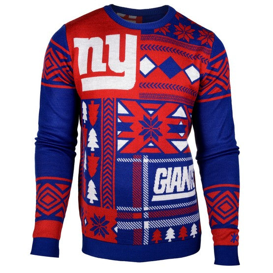 New York Giants 1Dz Patches Ugly Sweater