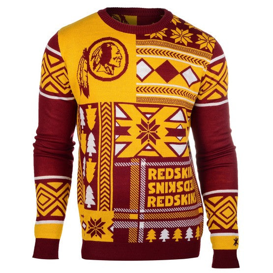 Washington Redskins 1Dz Patches Ugly Sweater