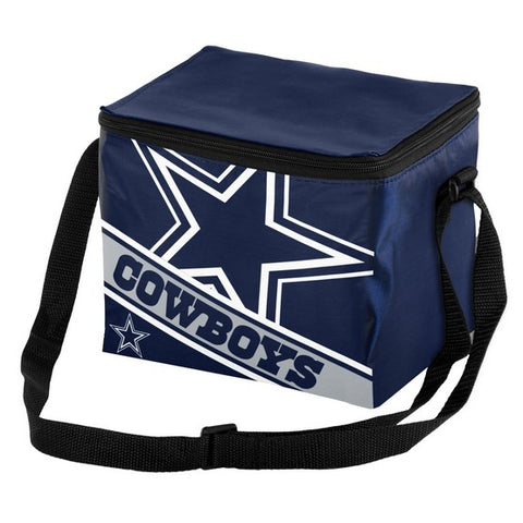 Dallas Cowboys Big Logo Stripe 6pk Lunch Bag