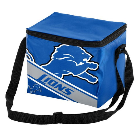 Detroit Lions Big Logo Stripe 6pk Lunch Bag