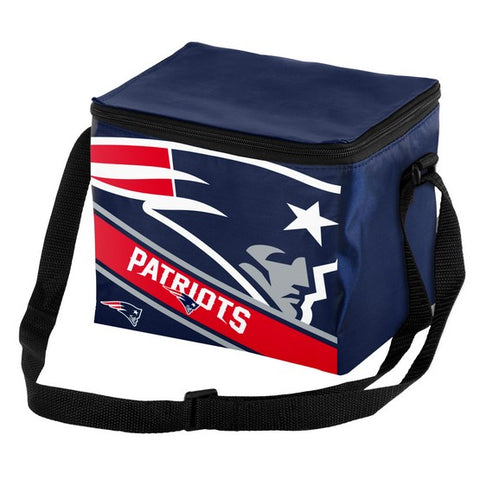 New England Patriots Big Logo Stripe 6pk Lunch Bag
