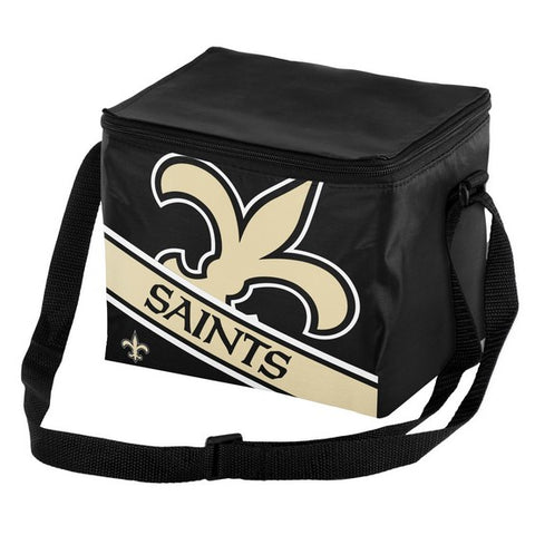 New Orleans Saints Big Logo Stripe 6pk Lunch Bag