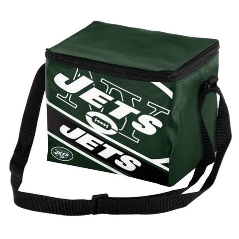 New York Jets Big Logo Stripe 6pk Lunch Bag