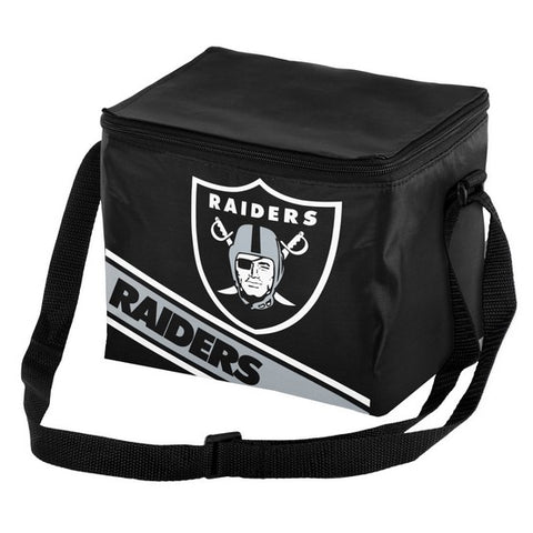 Oakland Raiders Big Logo Stripe 6pk Lunch Bag