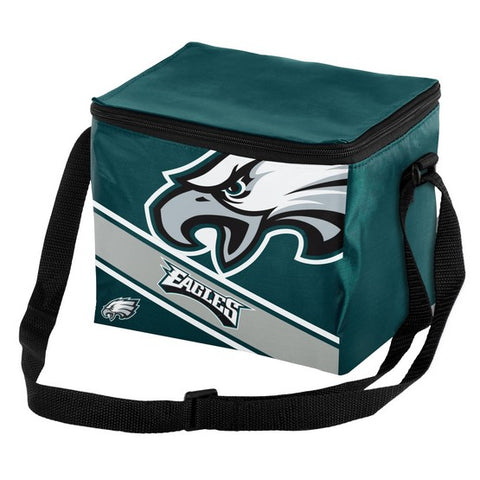 Philadelphia Eagles Big Logo Stripe 6pk Lunch Bag