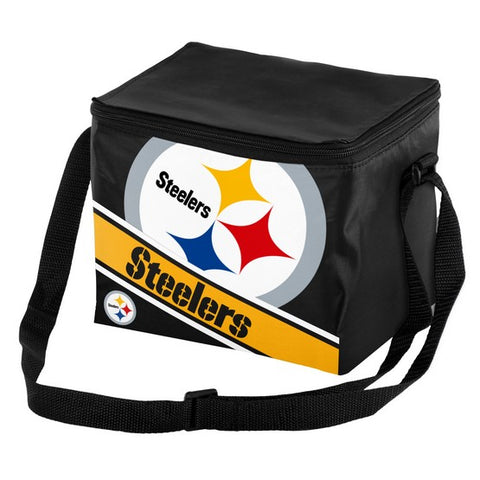 Pittsburgh Steelers Big Logo Stripe 6pk Lunch Bag