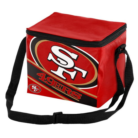 San Francisco 49ers Big Logo Stripe 6pk Lunch Bag