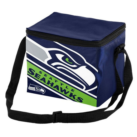 Seattle Seahawks Big Logo Stripe 6pk Lunch Bag