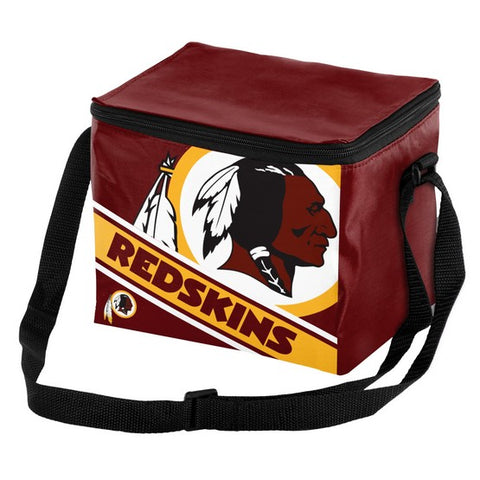Washington Redskins Big Logo Stripe 6pk Lunch Bag