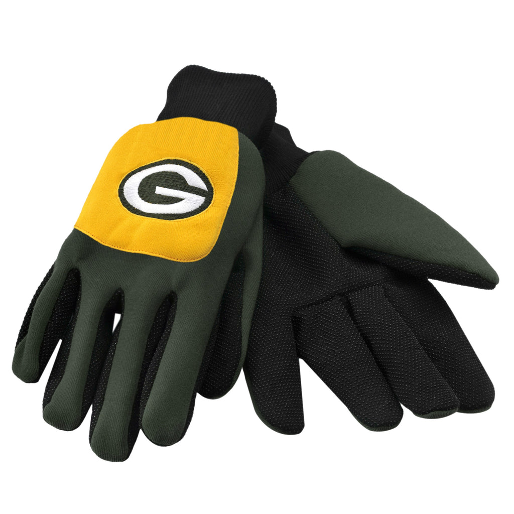 Green Bay Packers Color Block Utility Gloves
