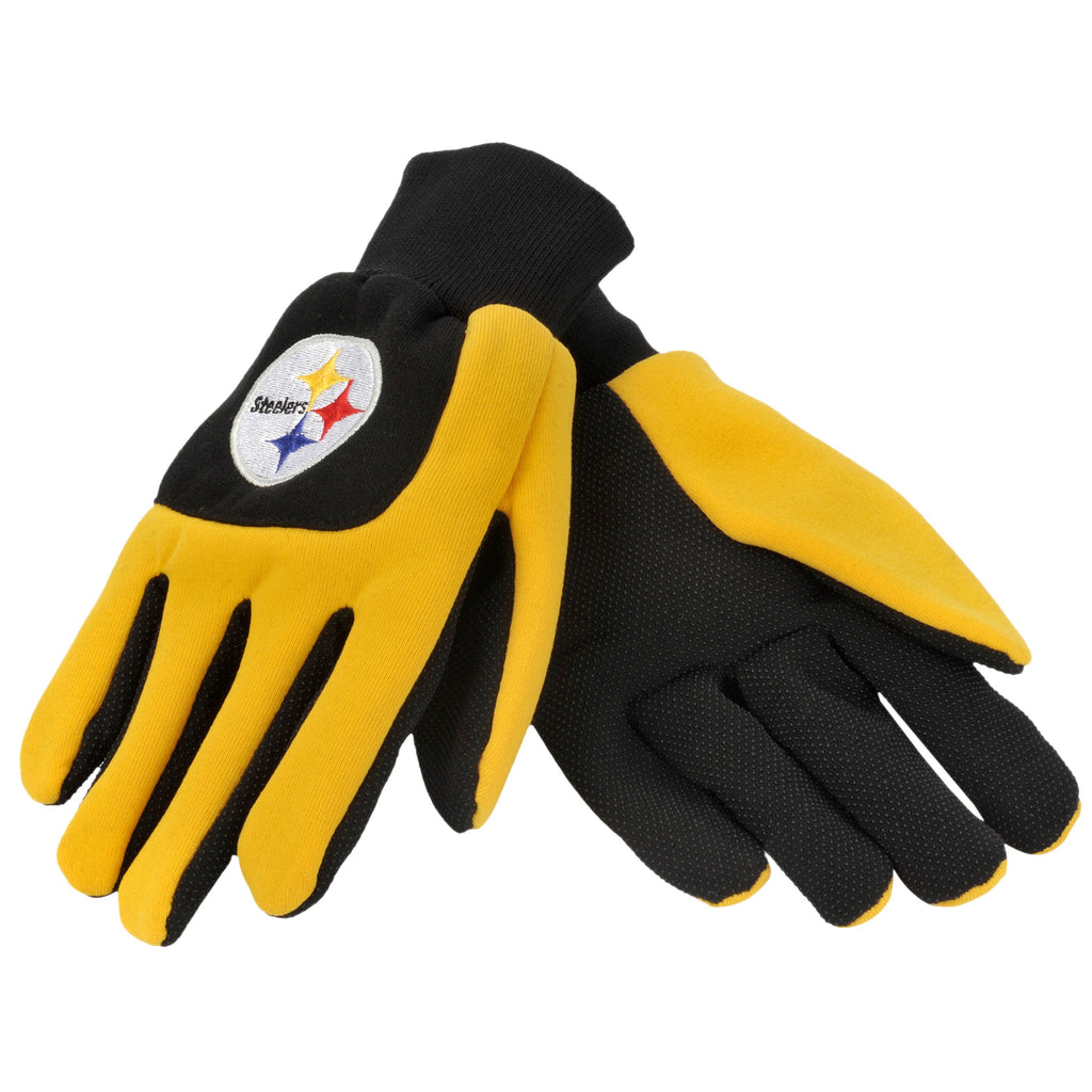 Pittsburgh Steelers Color Block Utility Gloves