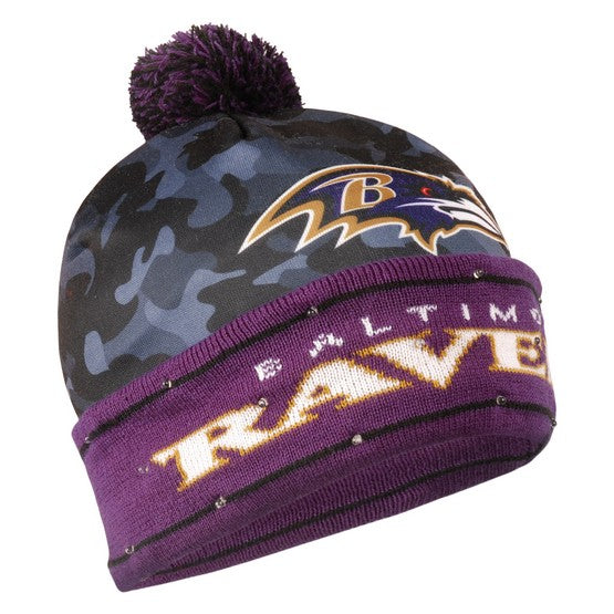 Baltimore Ravens Camouflage Light Up Knit Beanie