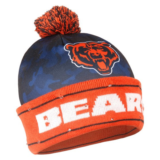 Chicago Bears Camouflage Light Up Knit Beanie
