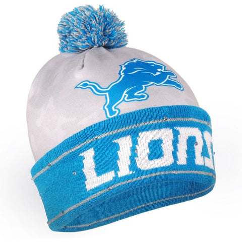 Detroit Lions Camouflage Light Up Knit Beanie