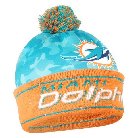 Miami Dolphins Camouflage Light Up Knit Beanie