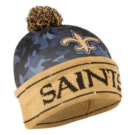 New Orleans Saints Camouflage Light Up Knit Beanie
