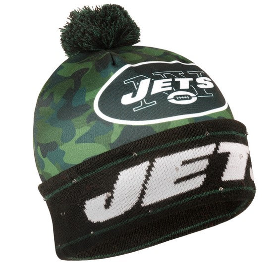 New York Jets Camouflage Light Up Knit Beanie