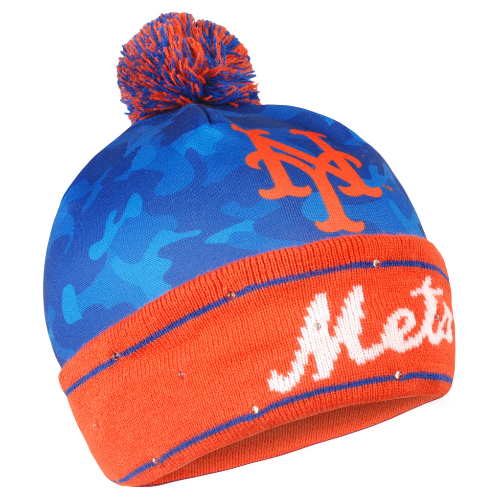 New York Mets Camouflage Light Up Knit Beanie