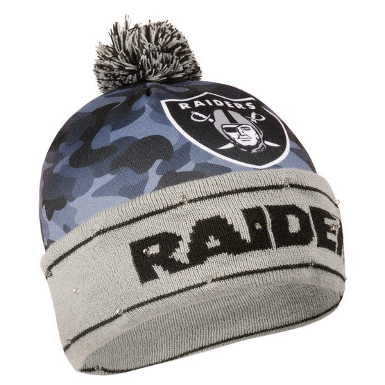 Oakland Raiders Camouflage Light Up Knit Beanie