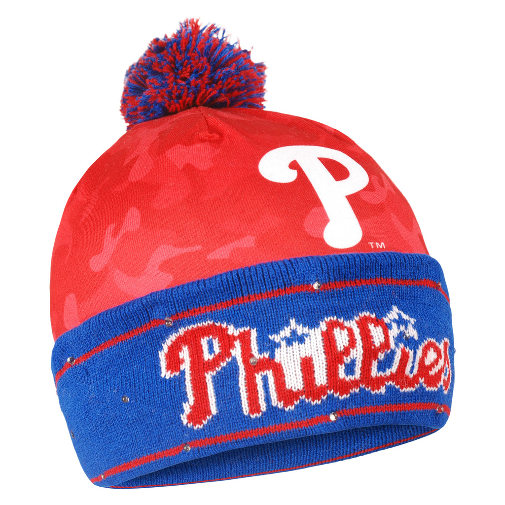 Philadelphia Phillies Camouflage Light Up Knit Beanie
