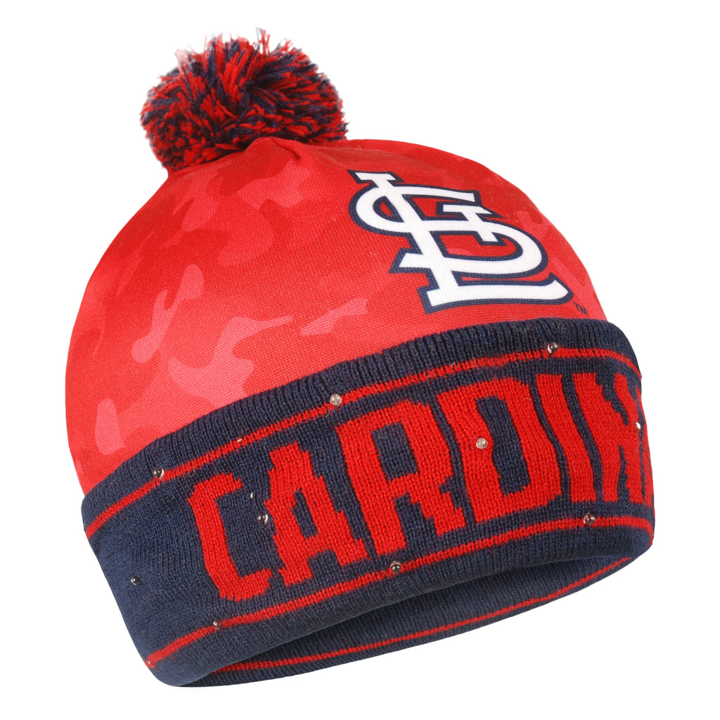 St. Louis Cardinals Camouflage Light Up Knit Beanie