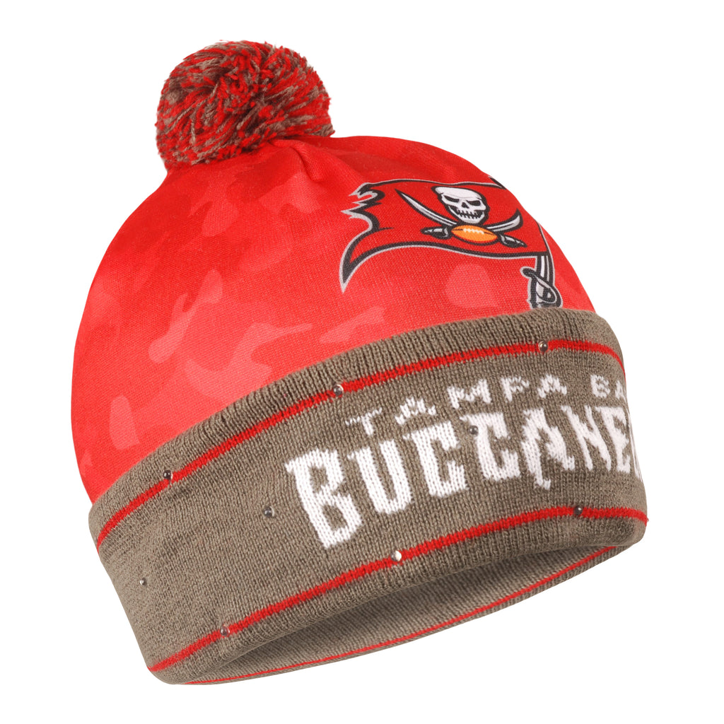 Tampa Bay Buccaneers Camouflage Light Up Knit Beanie