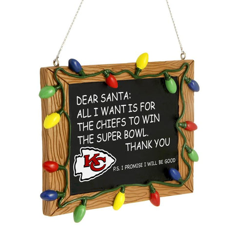 Kansas City Chiefs Chalkboard Ornament