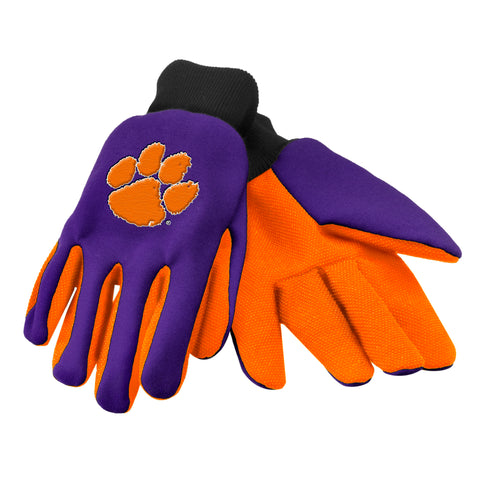 Clemson Tigers Colored Palm Glove