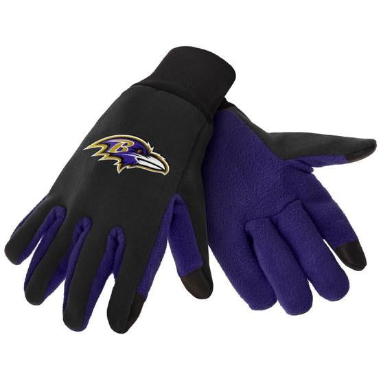 Baltimore Ravens Color Texting Gloves