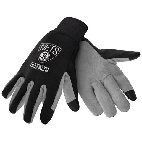 Brooklyn Nets Color Texting Gloves
