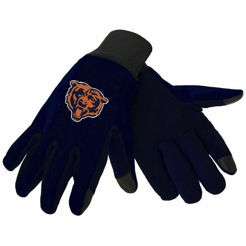 Chicago Bears Color Texting Gloves
