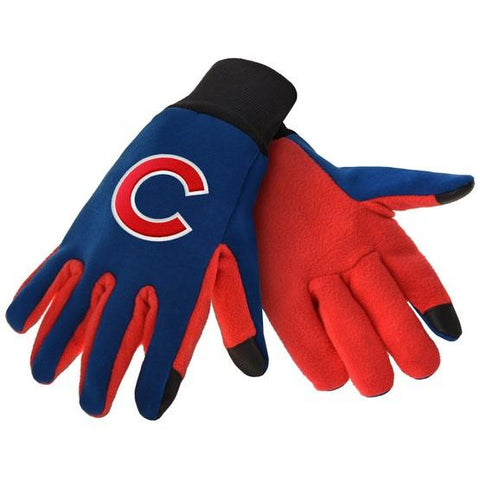 Chicago Cubs Color Texting Gloves