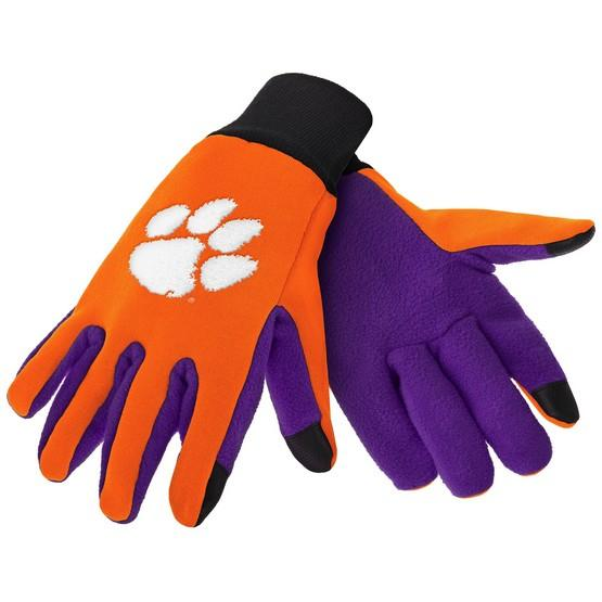 Clemson Tigers Color Texting Gloves