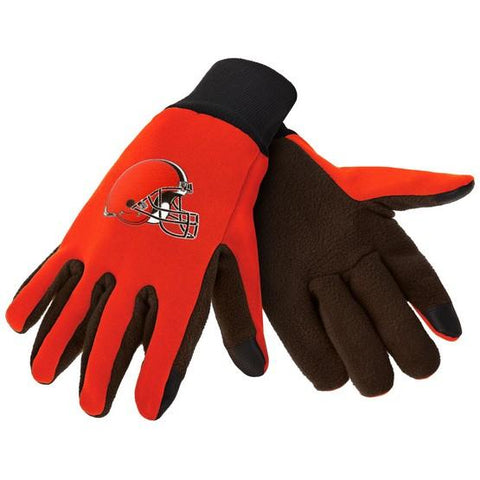 Cleveland Browns Color Texting Gloves
