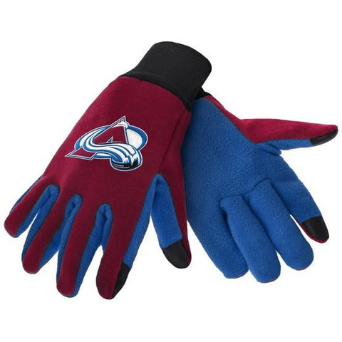 Colorado Avalanche Color Texting Gloves